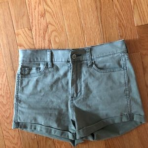 Army green Hollister shorts